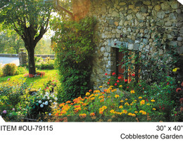 Cobblestone Garden Canvas Wall Art