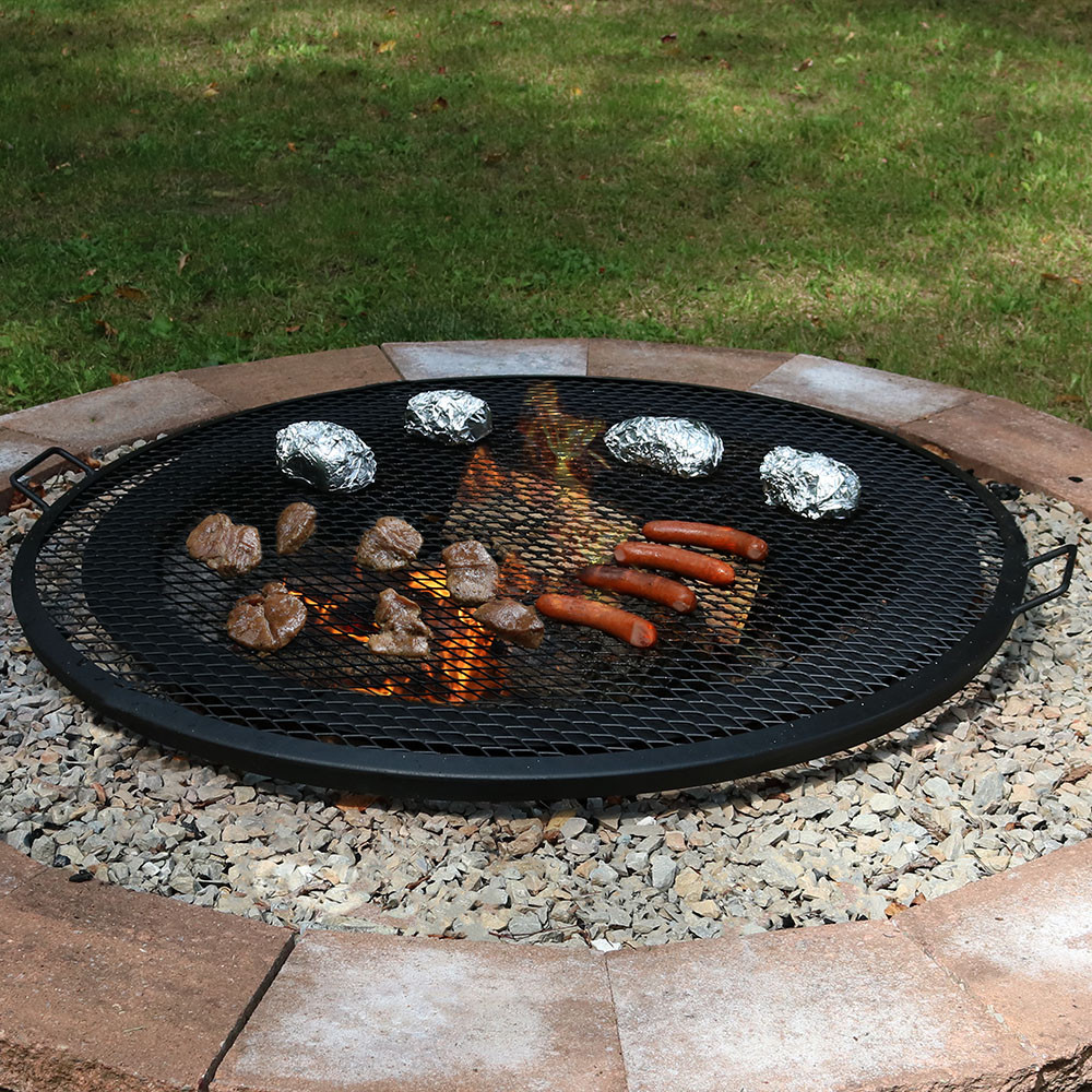 sunnydaze fire pit x marks cooking grill