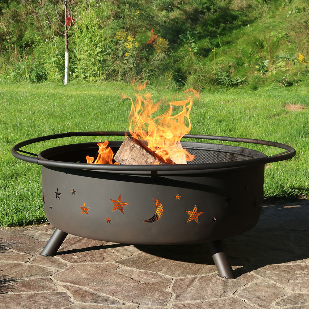 Patio Fire Pits Images: Sunnydaze 42-inch Large Cosmic Outdoor Patio Fire Pit