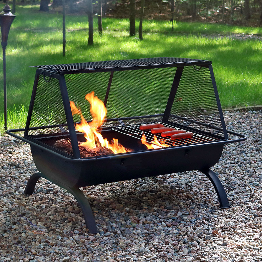 Northland Grill Fire Pit; Northland Grill Fire Pit ... - Sunnydaze Northland Grill Fire Pit & Protective Cover