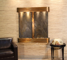 Wall Mounted Wf Water Fall For Indoor Installation With Stainless Steel Frame