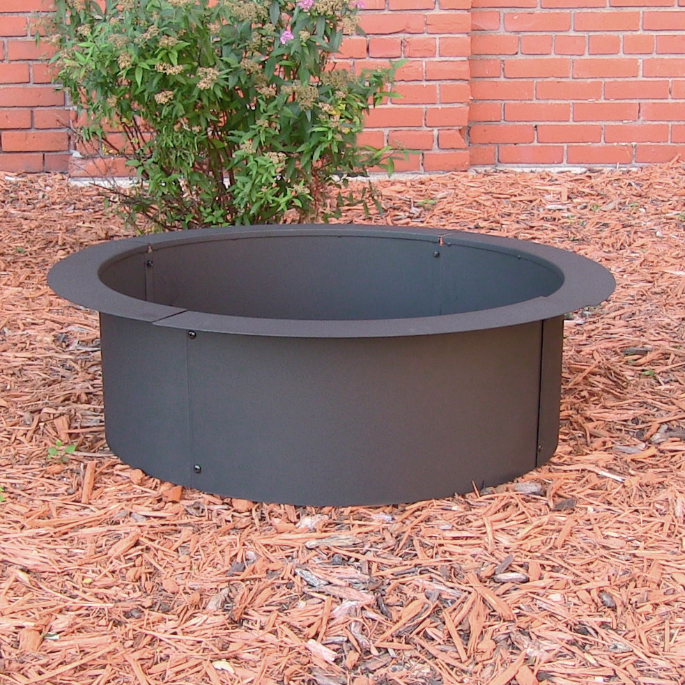 Sunnydaze Fire Pit Rim Make Your Own Ground Fire Pit Diameter Photo