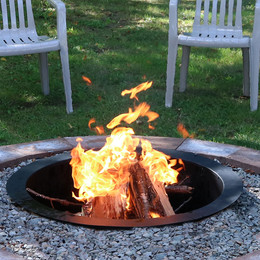 Sunnydaze Durable Steel Fire Pit Ring/Liner, DIY Fire Pit Rim Above or In-Ground