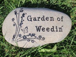 Custom engraved stones garden stones pet memorials or custom gifts custom engraved small garden stone 5 7 workwithnaturefo