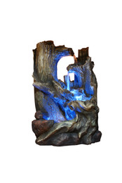 Alpine Tree Trunks Fountain with LED Light
