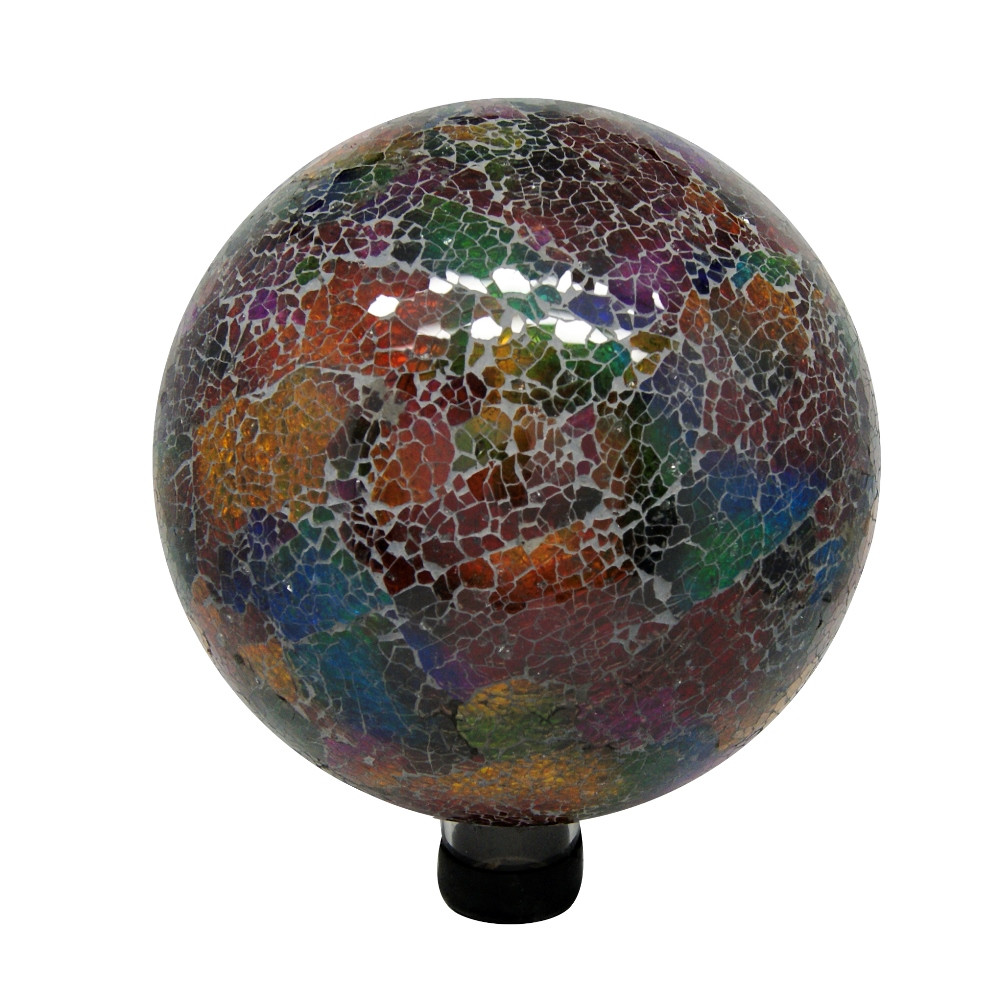 in Mosaic Gazing Ball Multicolor Picture 751