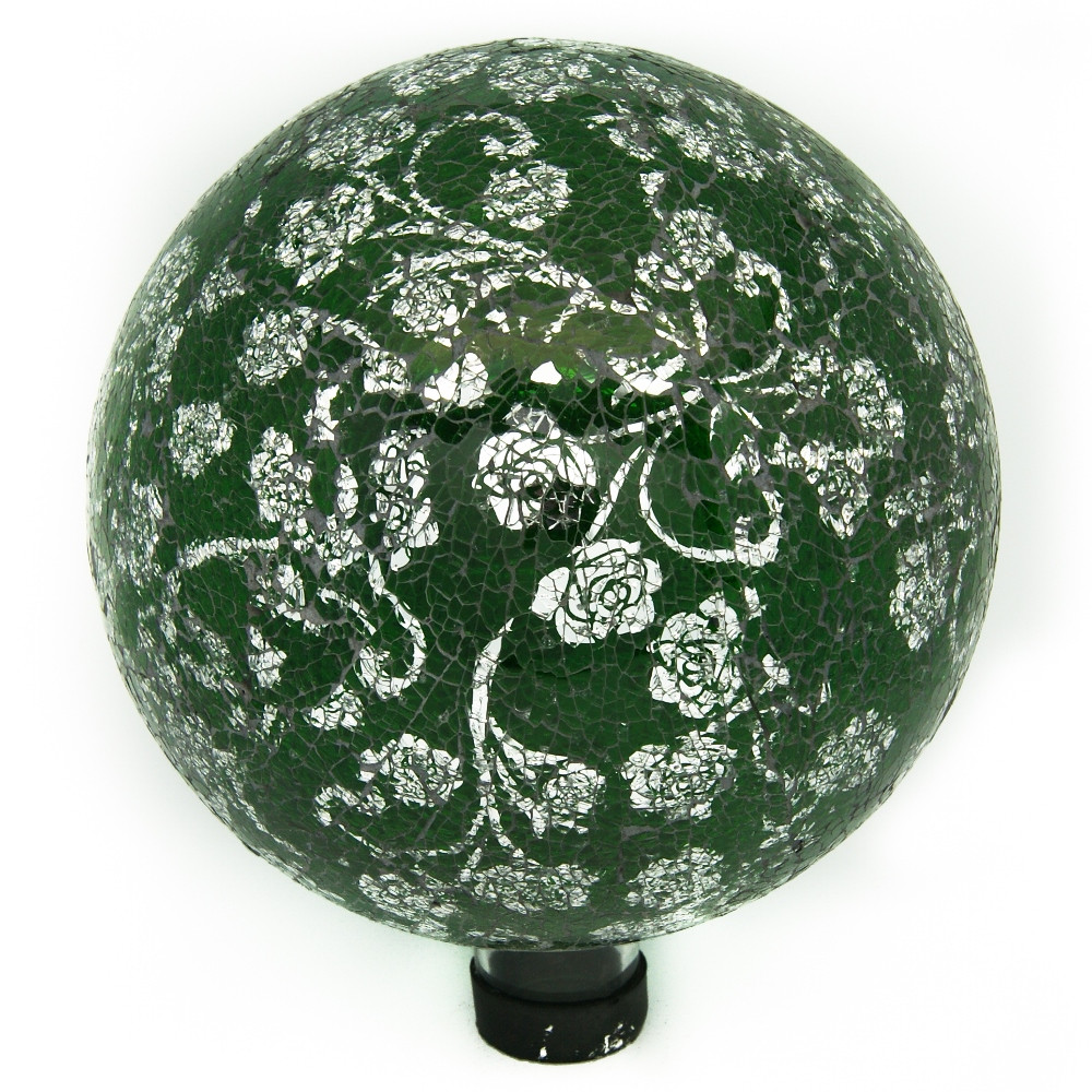 in Mosaic Gazing Ball Silver Photo