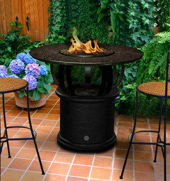 California Outdoor Concepts Del Mar Balcony Height Fire Pit Table