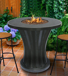 Rodeo Chat Fire Pit Table without Granite Tabletop