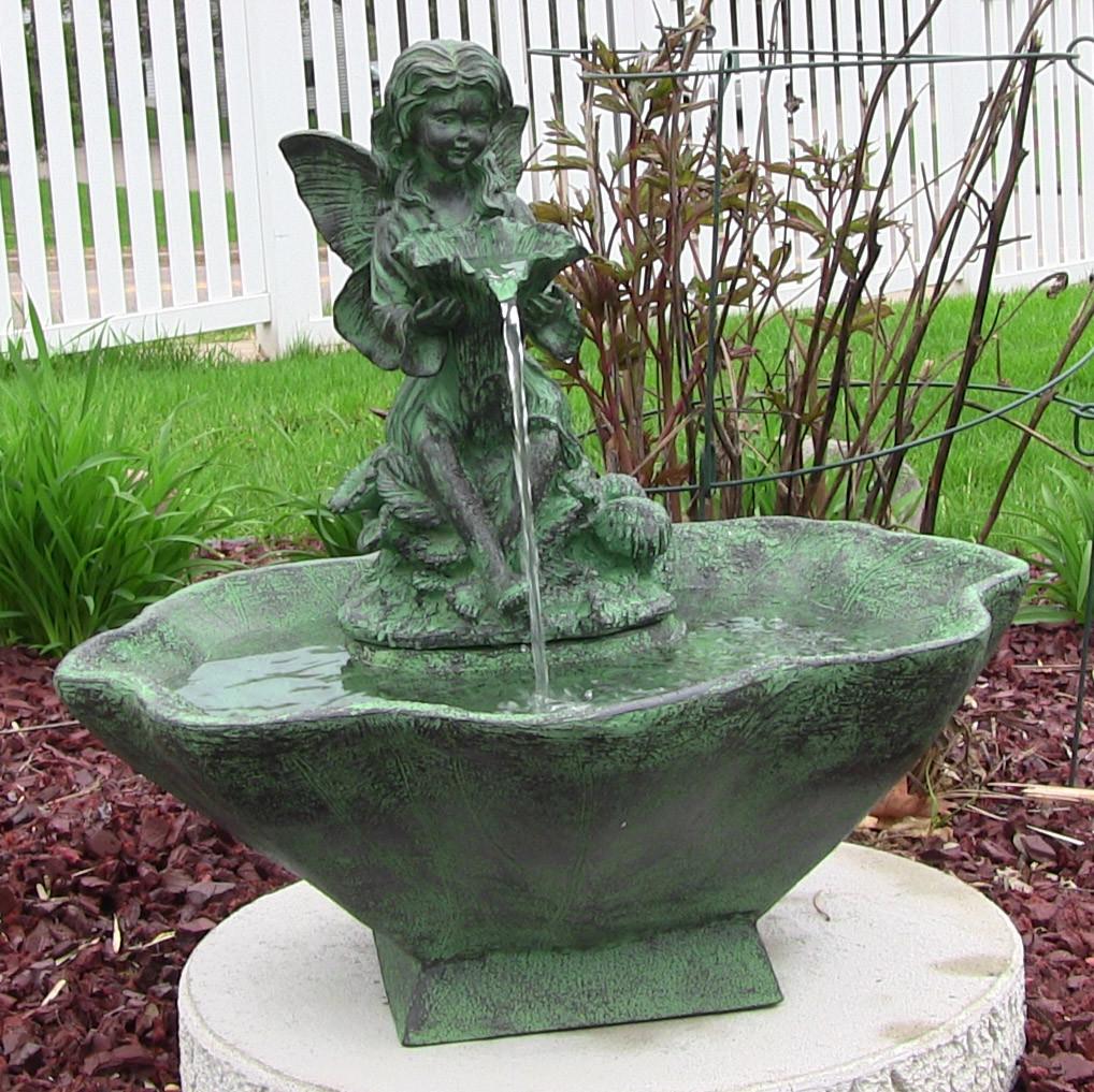 Sunnydaze Flower Fairy Solar On Demand Fountain Picture 233
