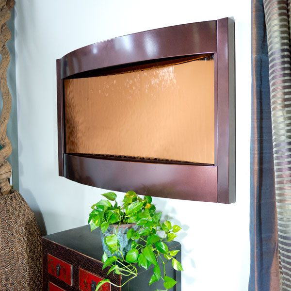 Contempo Solare Wall Fountain Bronze Mirror Dark Copper Picture 34