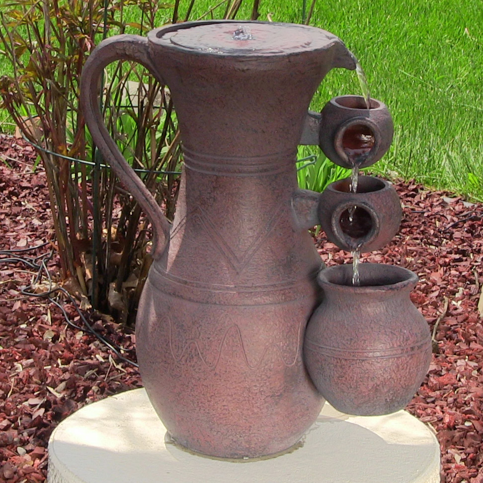 Sunnydaze Cascading Pitchers Solar on Demand Fountain Tall Picture 314