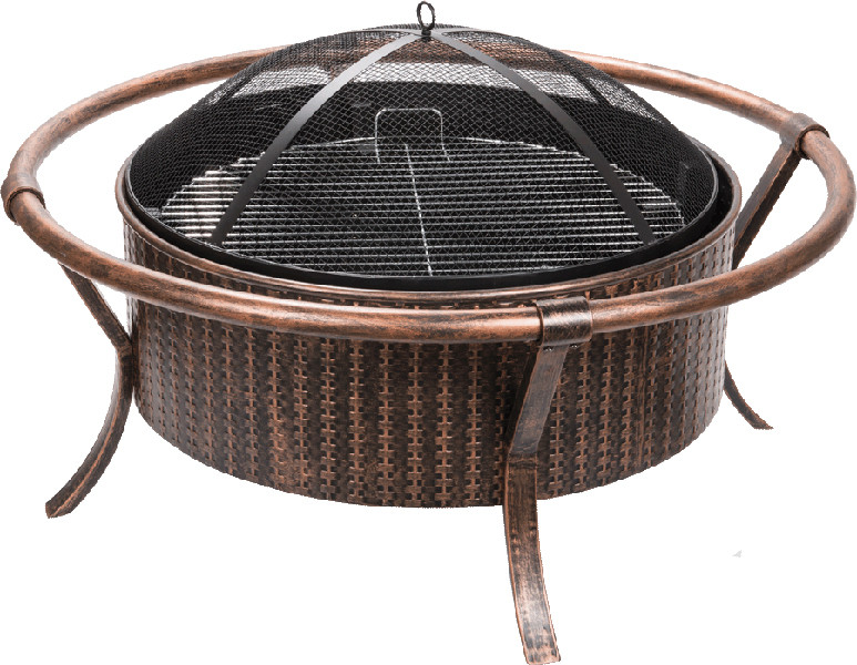 Weave Design CopperBlack Fire Pit Picture 240