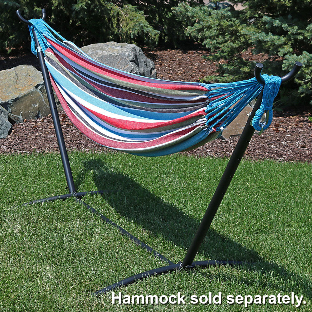 ... Black With Hammock Outdoors (Hammock Not Included) ...
