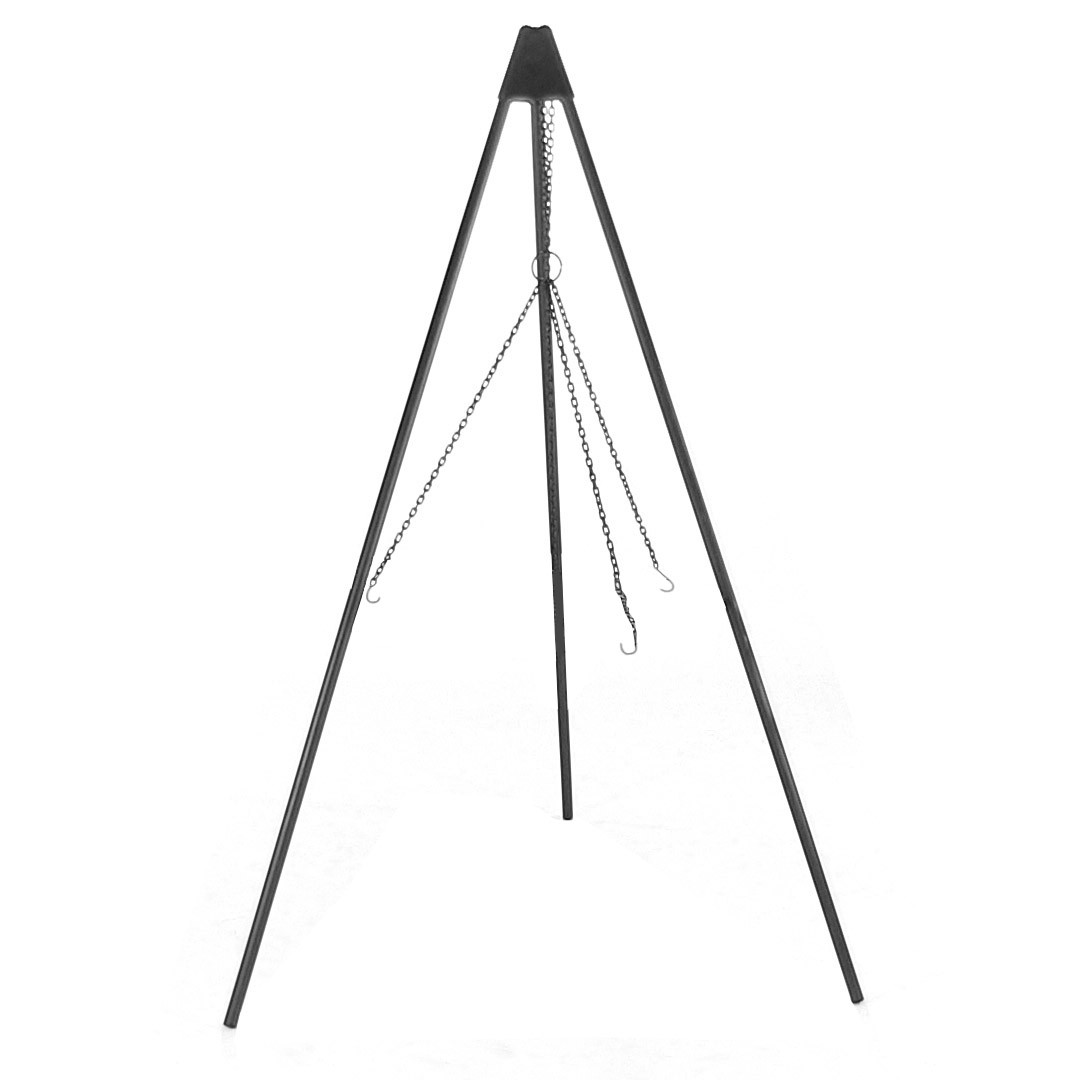 Sunnydaze Firepit Tripod Stand with Solid Steel Legs 55 Inch Tall