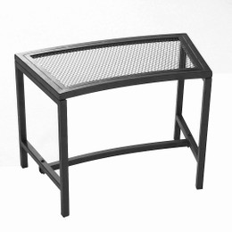 Black Mesh Patio Fire Pit Bench by Sunnydaze