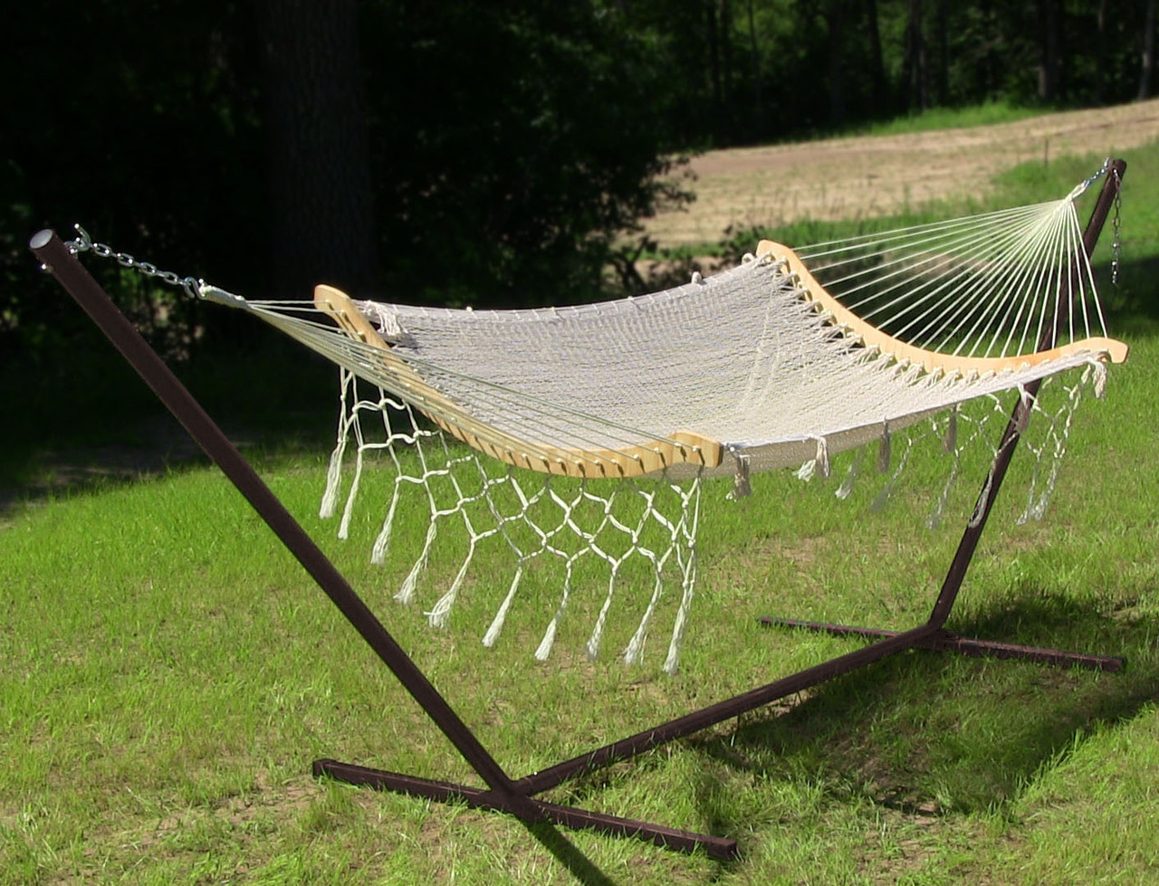 natural  natural  image 3 sunnydaze one person mayan hammock with stand  u2013 15 u0027  rh   serenityhealth