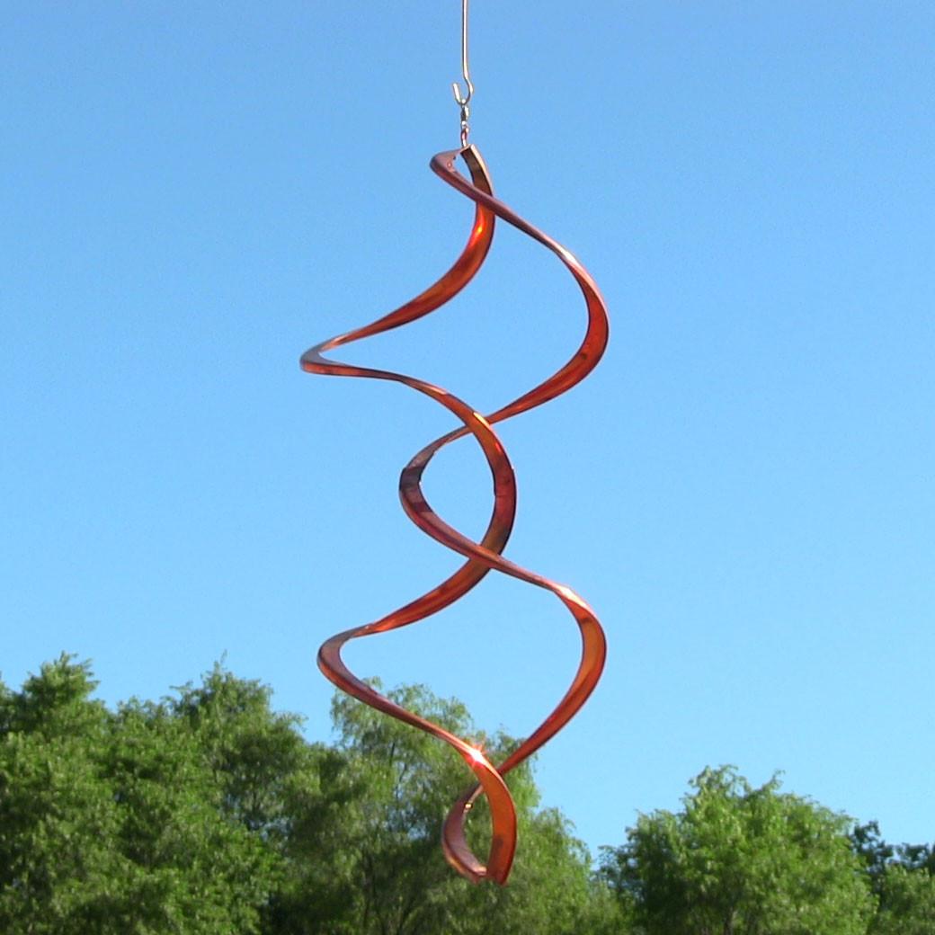 Sunnydaze Twister Copper Wind Spinner – Garden Spinner