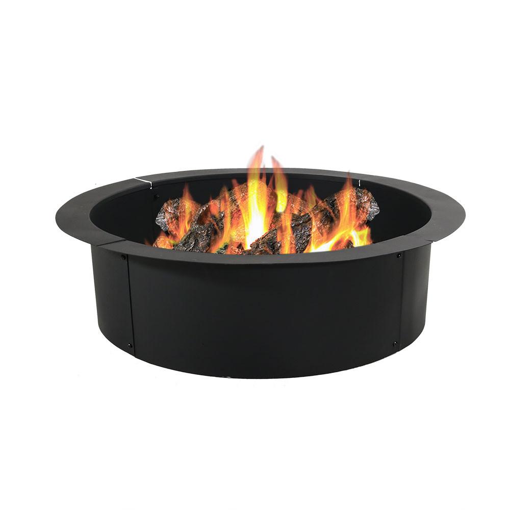 Sunnydaze Heavy-Duty Fire Pit Rim - DIY Fire Pit