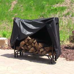 sunnydaze heavy duty firewood log rack cover 5 foot
