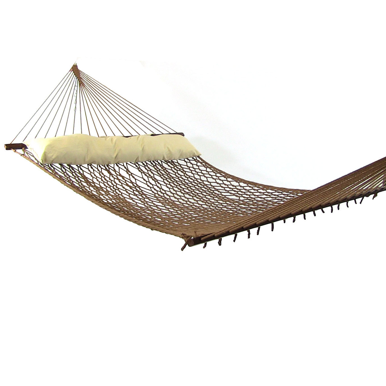 image 1  sunnydaze 2 person polyester rope hammock with spreader bars and      rh   serenityhealth