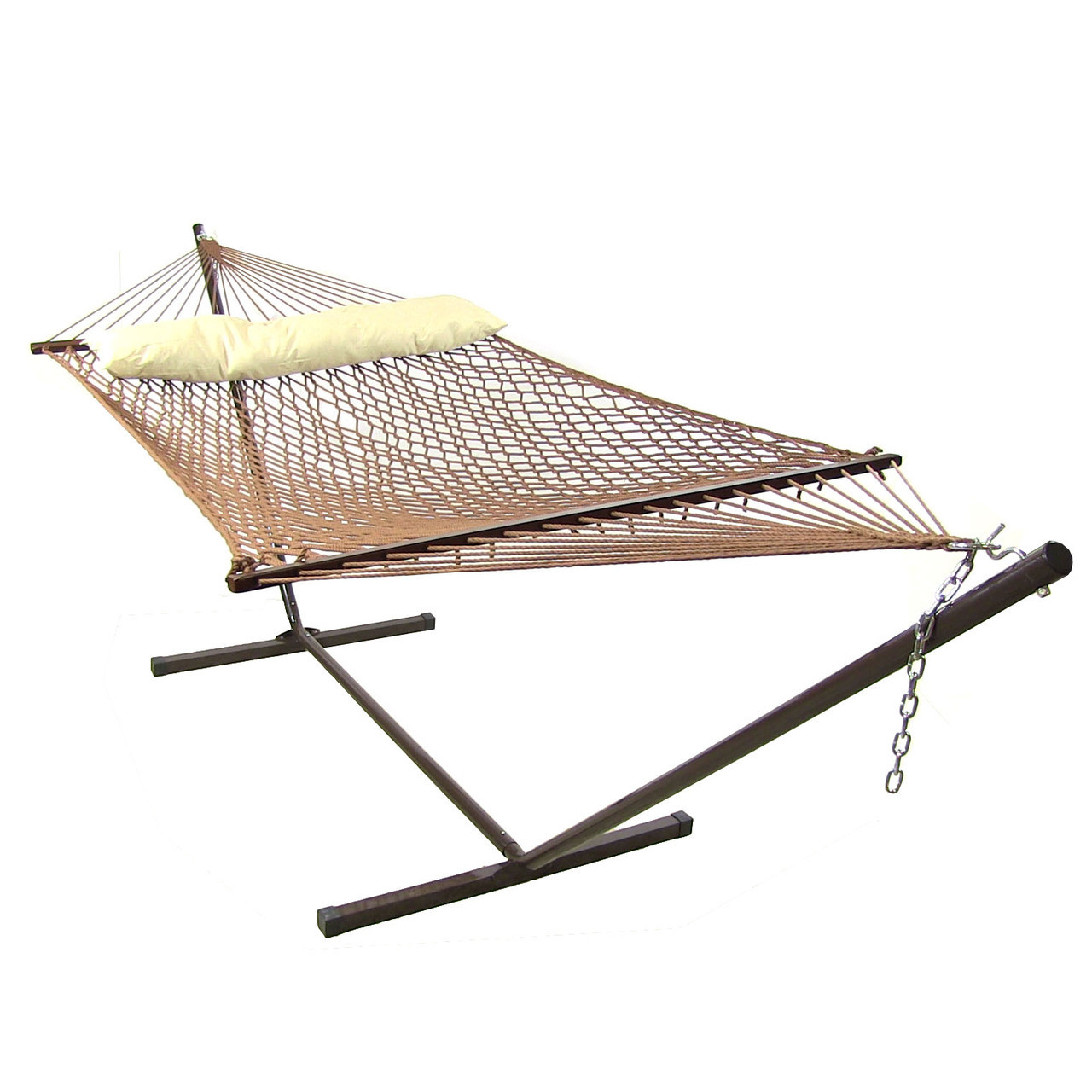 Sunnydaze Polyester Rope Hammock Spreader Bars Pillow Stand Combo Bro Picture 371