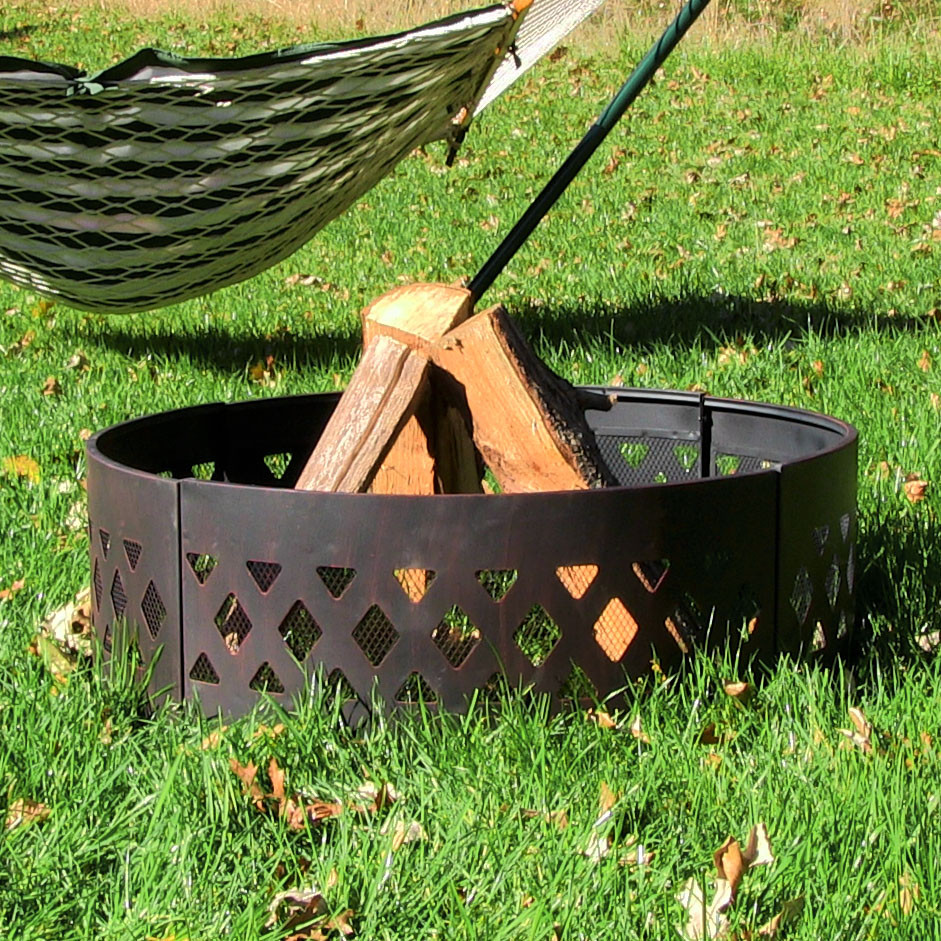 Sunnydaze Heavy Duty Crossweave Campfire Ring Inch Picture 701