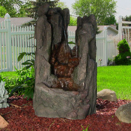 Rock Cavern Falls Fountain w/LED Lights by Sunnydaze Decor