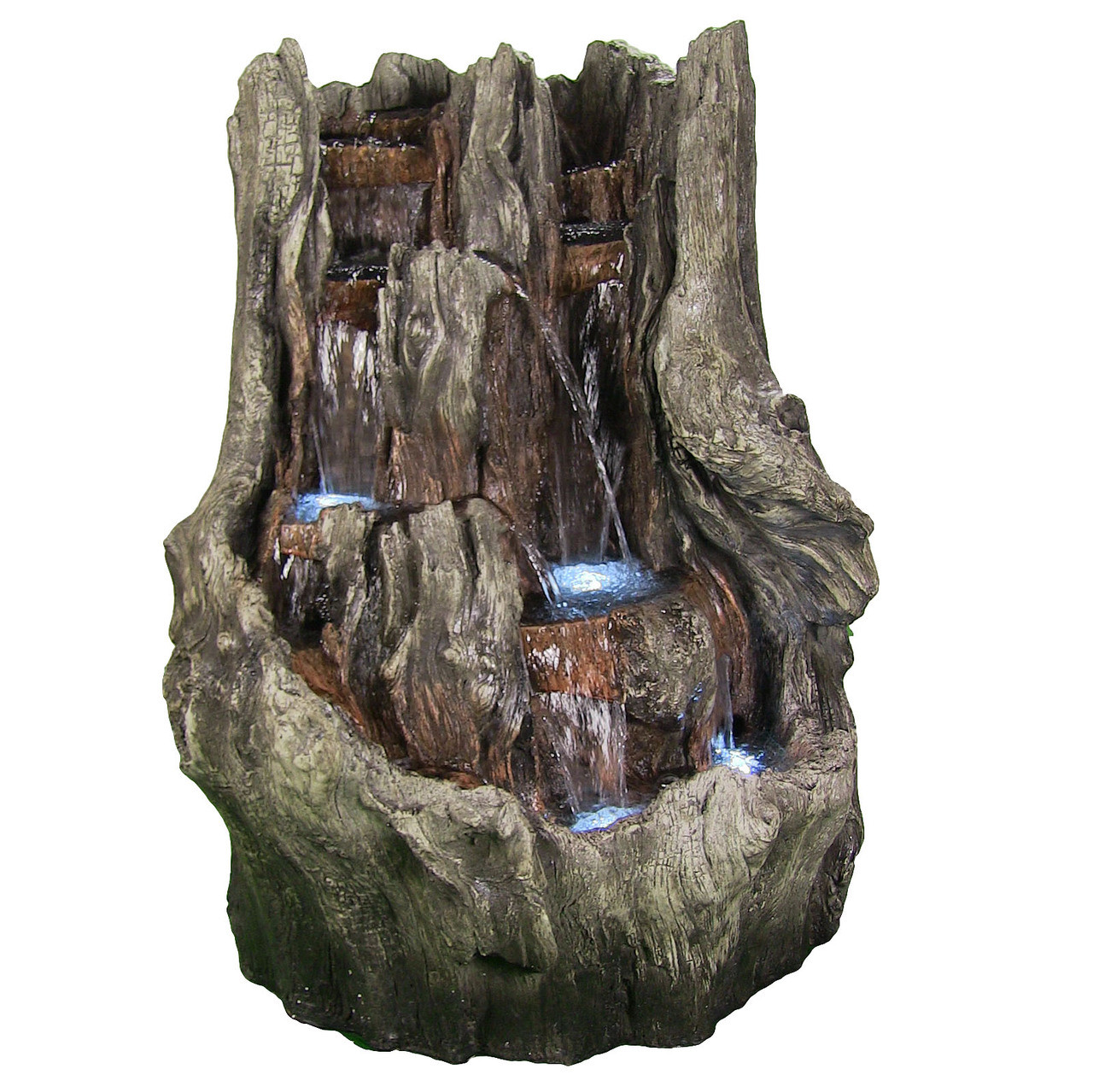 Cascading Mountain Falls Outdoor Water Fountain LED Lights Tall Picture 18