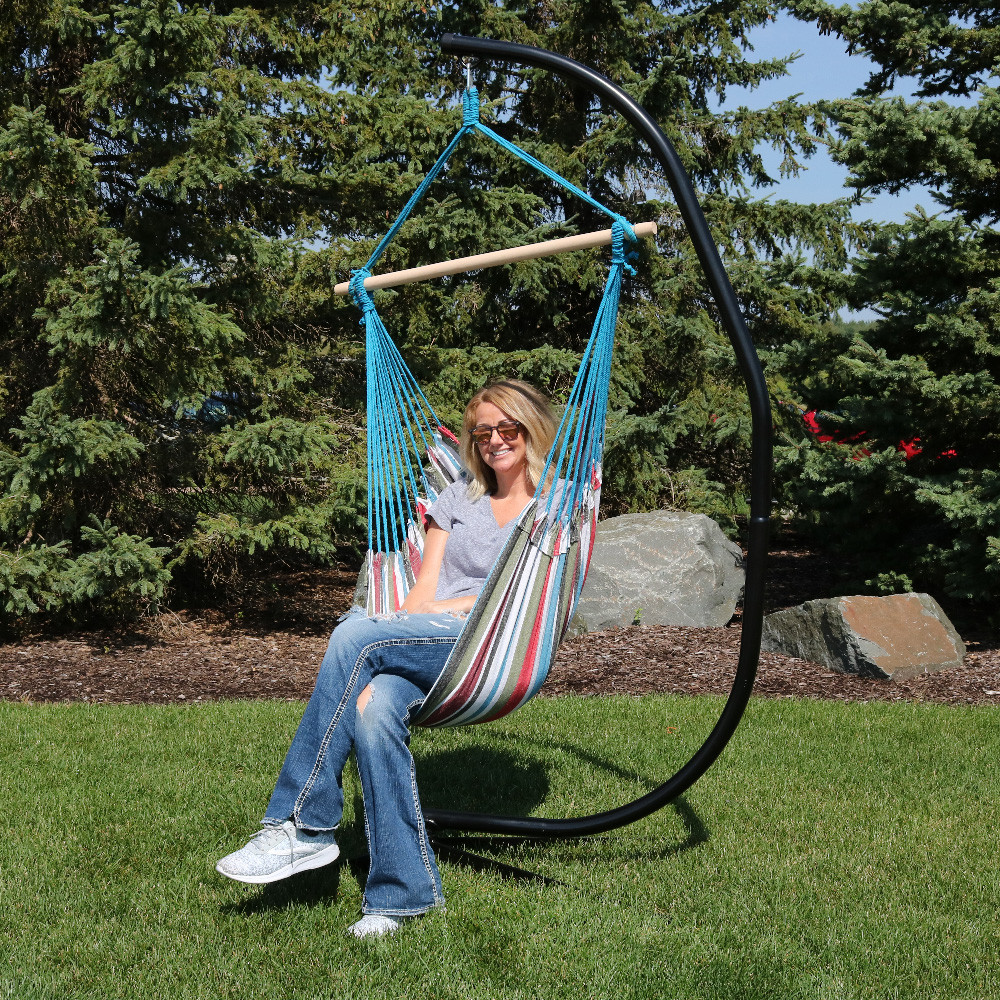 swing hammock seat porch chair outdoor w living outsunny person patio two canopy loveseat