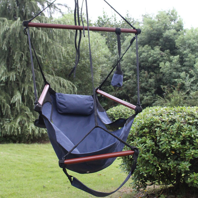 blue     sunnydaze deluxe hanging hammock air chair w  c stand  rh   serenityhealth