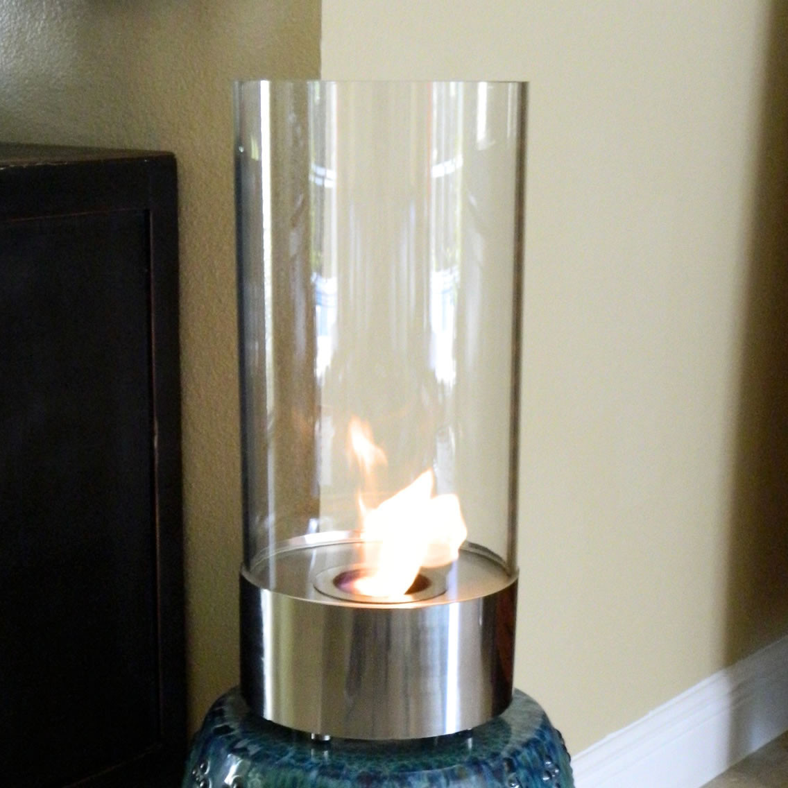 Nu Flame Cristallo Stunning Tabletop Fire Cylinder Picture 310
