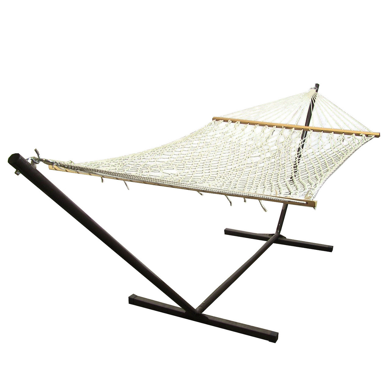 Sunnydaze Polyester Rope Hammock Stand Combo WideLong Picture 391
