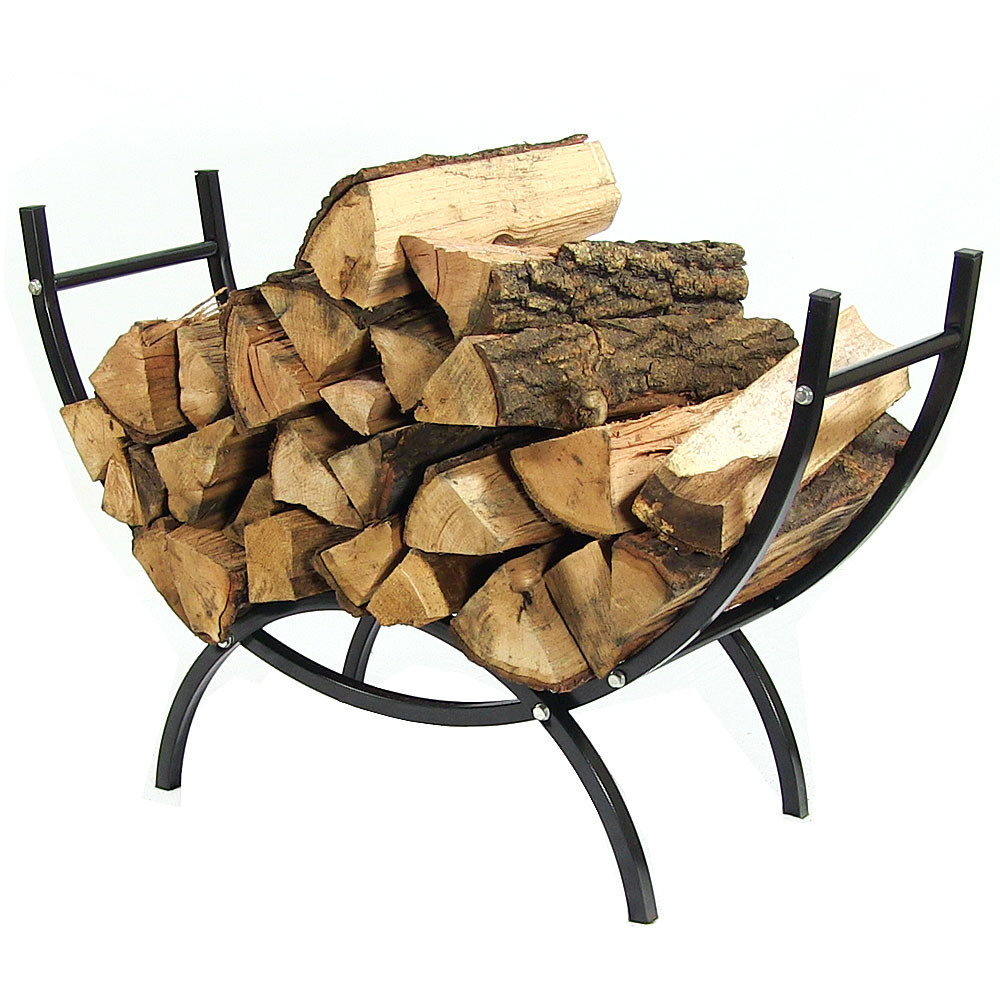 Sunnydaze Curved Firewood Log Rack – Indoor & Outdoor