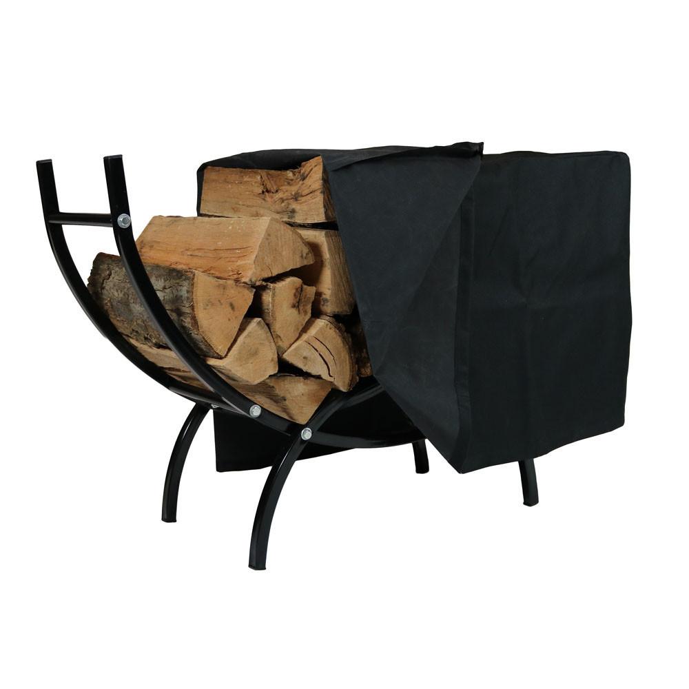 Sunnydaze Curved Firewood Log Rack – Indoor & Outdoor