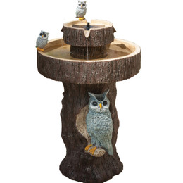 Smart Solar Owl 2-Tier Solar-on-Demand Fountain