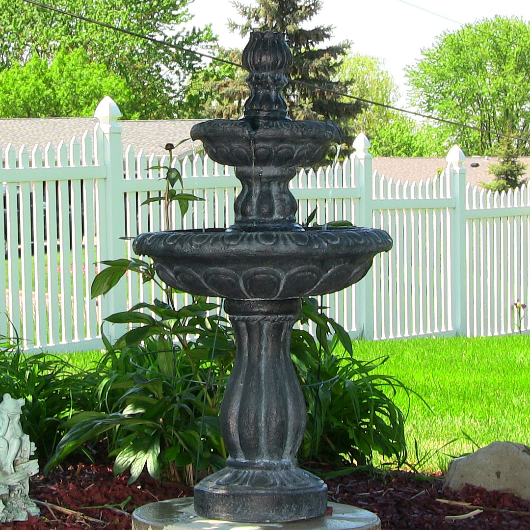 Sunnydaze Two Tier Tulip Solar On Demand Fountain Tall Picture 192