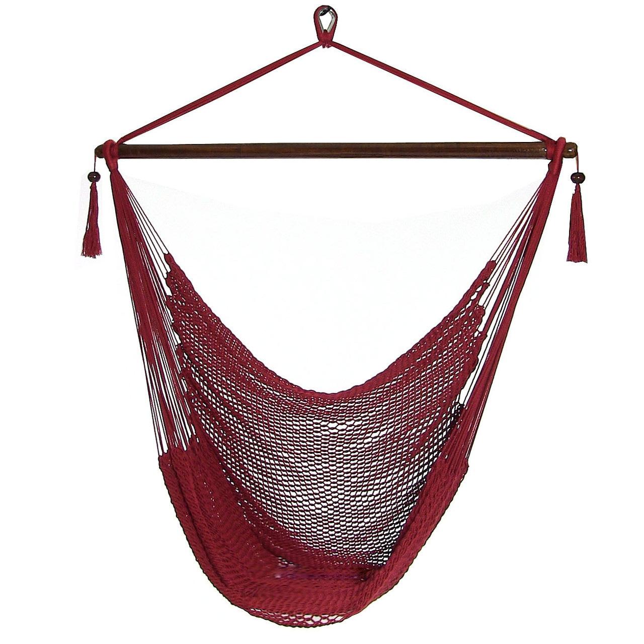 red  sunnydaze hanging caribbean xl hammock chair  rh   serenityhealth