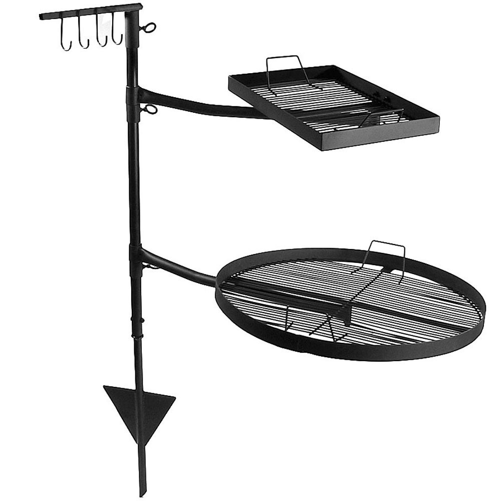 Fire Pit Grates Adjustable Campfire Cooking Racks Round Square