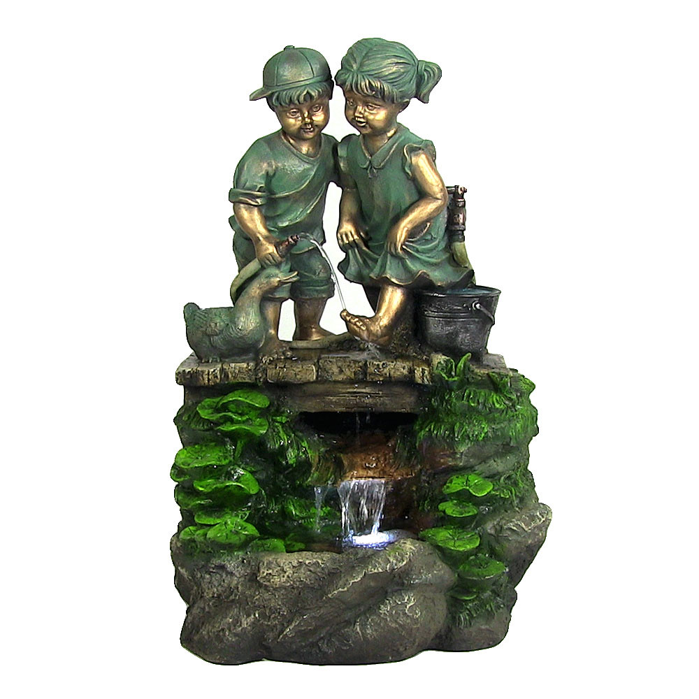 ... Image 5 ... - Children Discovering Nature Outdoor Water Fountain With LED Light