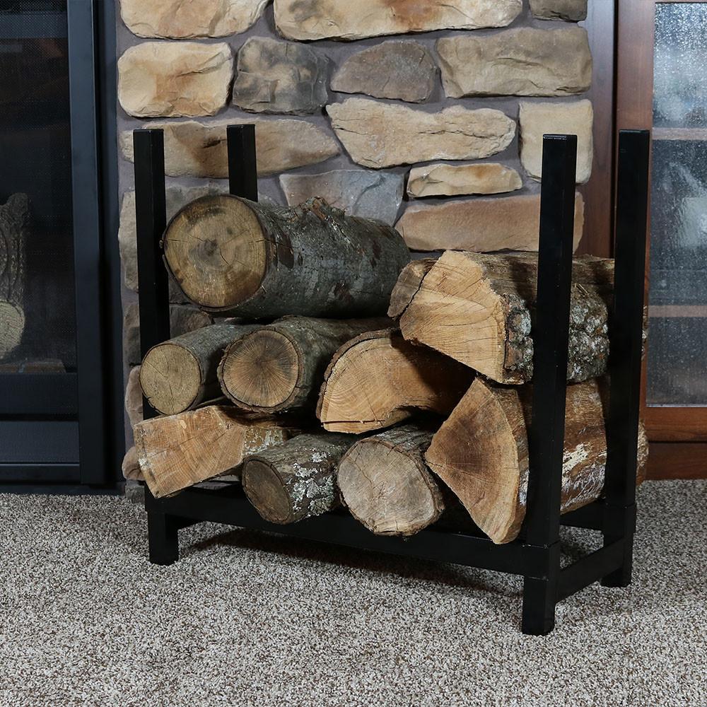"Sunnydaze Décor Indoor/Outdoor Firewood Rack – 24"" H"