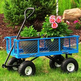 Sunnydaze Utility Cart with Folding Sides