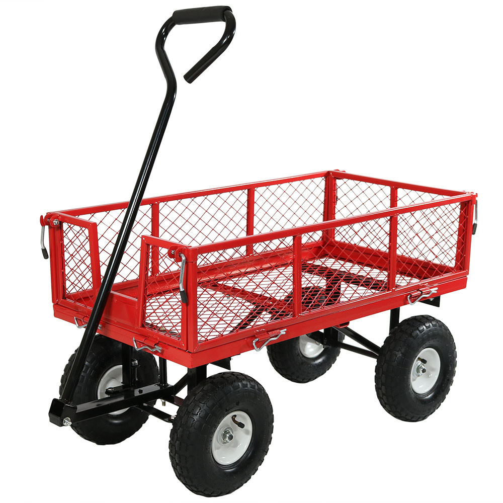 red with all sides up - Rolling Utility Cart