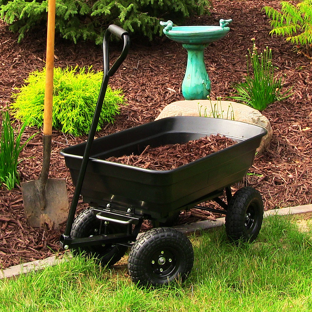 Sunnydaze Heavy Duty Garden Dump Cart LongWide Bed Po Picture 616