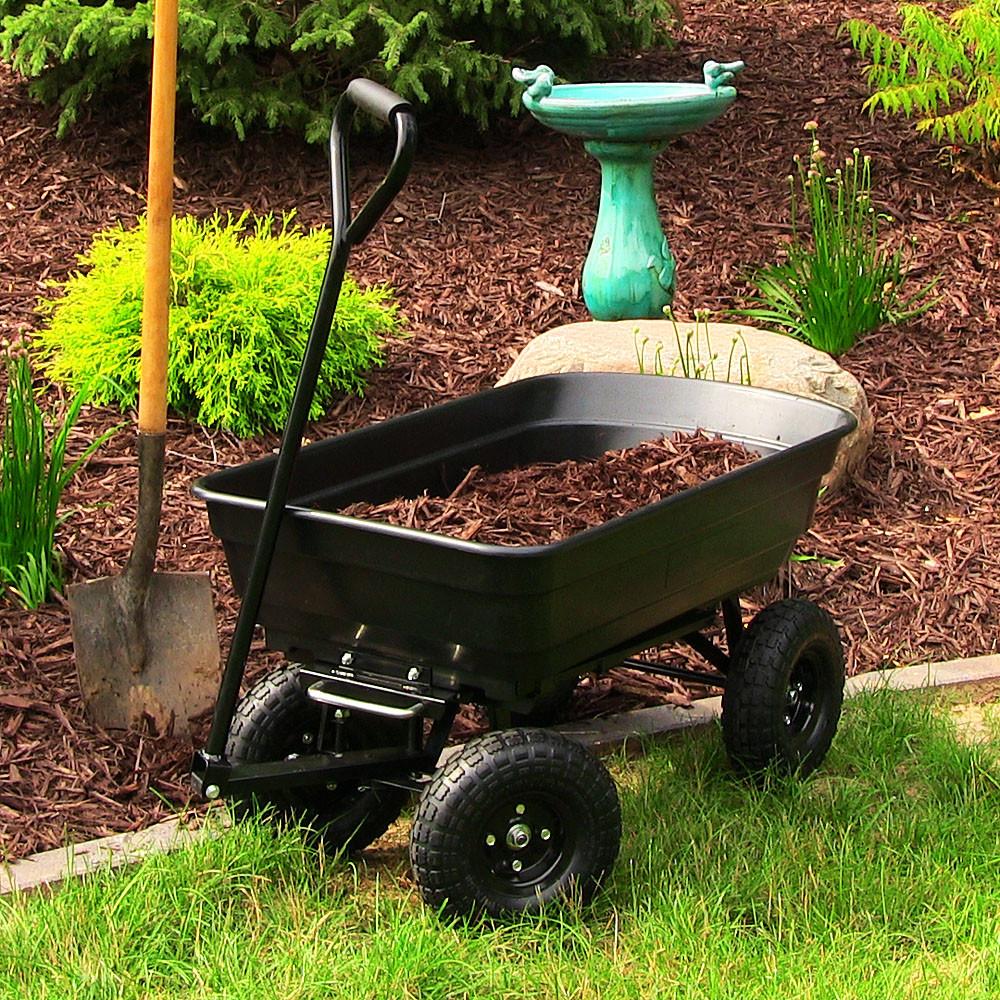 Sunnydaze Heavy Duty Garden Dump Cart LongWide Bed Po Picture 614