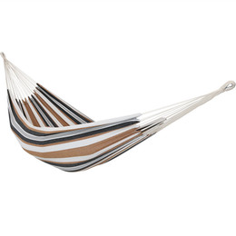 Medium image of sunnydaze brazilian double hammock   2 person portable for camping indoor or outdoor use