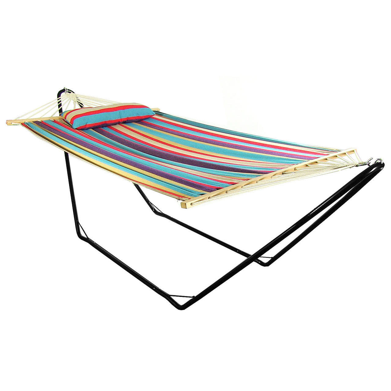 Sunnydaze Wildberry Cotton Fabric Hammock Spreader Bars Pillow Stand Com Picture 538