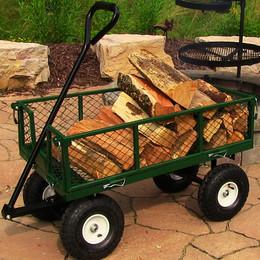 sunnydaze heavy duty steel log cart