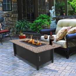 Carmel Chat Height Coffee Table Fire Pit by California Outdoor Concepts
