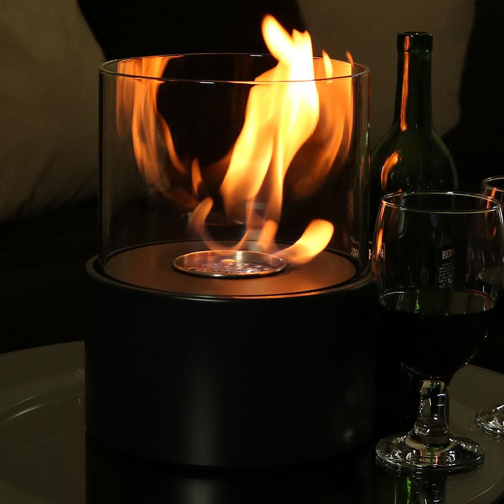 sunnydaze circa ventless tabletop bio ethanol fireplace